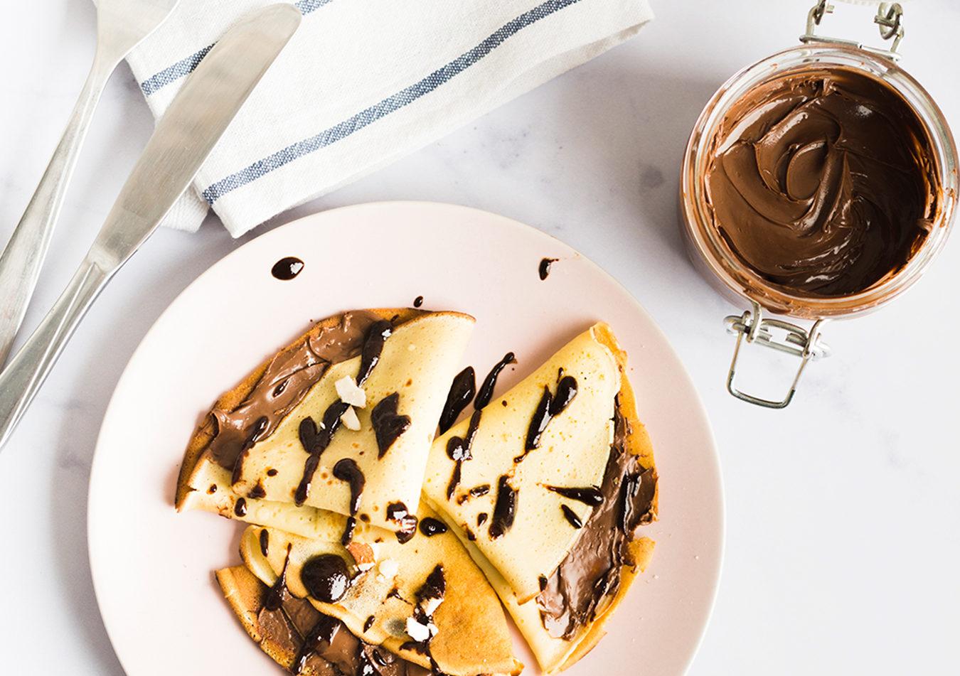 Receta proteica de Crepe con Chocolate